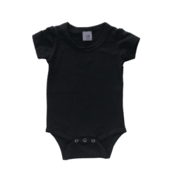 Black short sleeve onesie