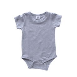 Light Frosted Grey Short Sleeve Onesie