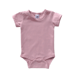 Dusty PInk hort Sleeve Onesie