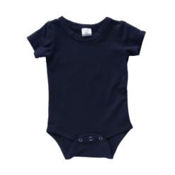 Navy Short Sleeve Onesie